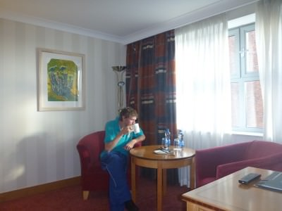 My night in the Europa Hotel, Belfast, Northern Ireland.