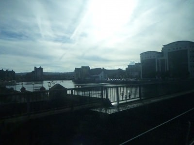 Train out of Belfast