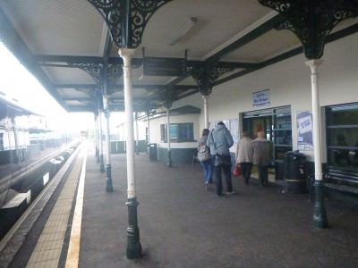 Arrival by train into Coleraine.