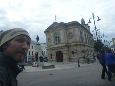 Coleraine Town Hall and War Memorial.