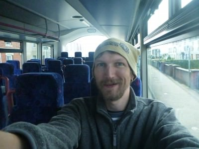 Backpacking in Northern Ireland - on the bus to Ballintoy