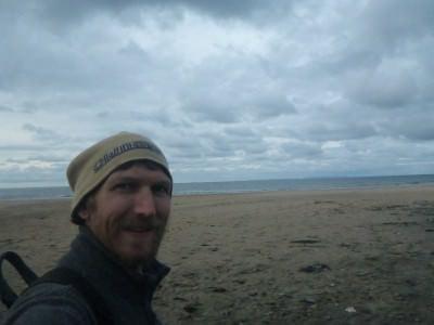 Enjoying Whitepark Beach.