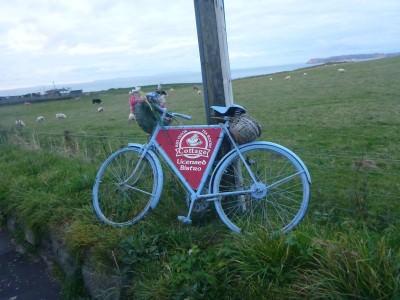 Red Door Tea Room - follow the signs on the bike!