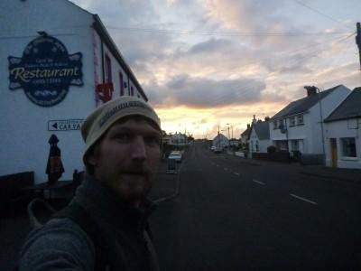 Backpacking in Northern Ireland - exploring Ballintoy.