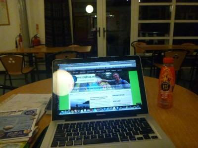 Decent wifi in the Whitepark Bay Hostel.