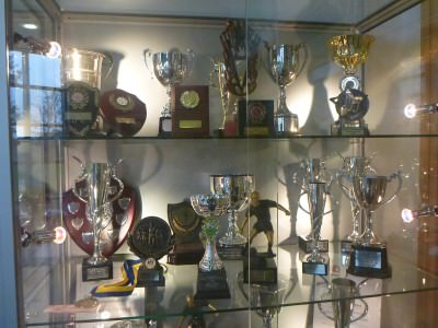 Kilmaine Primary School trophy cabinet.