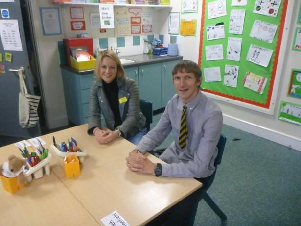 Sarah and I in Mr. Rea's P7 room - we were in his P7 class in 1990 - 1991.