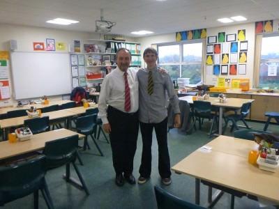 Mr. Rea and I.