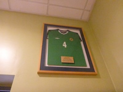 Ashley Hutton's shirt - she has been a total legend for Northern Ireland ladies team over the years.