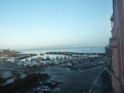 Tremendous seafront views of Belfast Lough frm my room at the Windsor Inn.