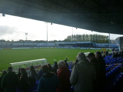 Coleraine Showgrounds, home of Coleraine FC in the Premier Division in Northern Ireland.
