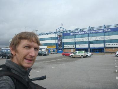 Outside St Andrews - home of Birmingham City FC