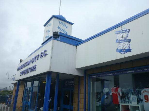 Club Shop at Birmingham City FC.