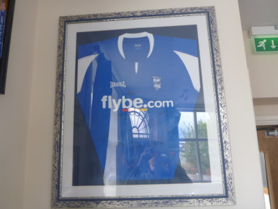 Signed Birmingham City shirt in the bar