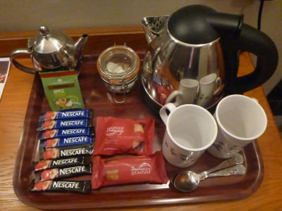 Free tea and coffee and biscuits