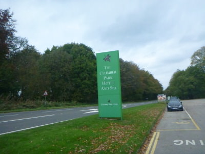 Autumn on the main road by the Clumber Park Hotel and Spa