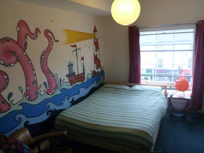 My cosy room in the Igloo Hostel in Nottingham, England