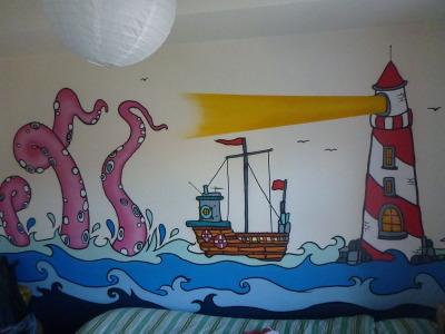 The Lighthouse picture in my bedroom at the Igloo Hostel.