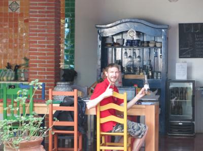 Having a Corona in Oaxaca Mexico.
