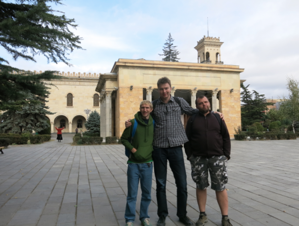 Rafal, Kamil and I at Stalin's Museum