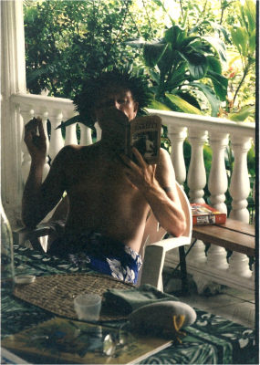 World Travellers: Jean Poulot Re-reading The Lure of Tahiti, on location, Paea, French Polynesia