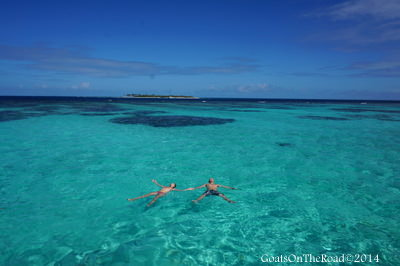 World Travellers: Dariece and Nick from Goats on the Road at Tobago Cays - St. Vincent and The Grenadines