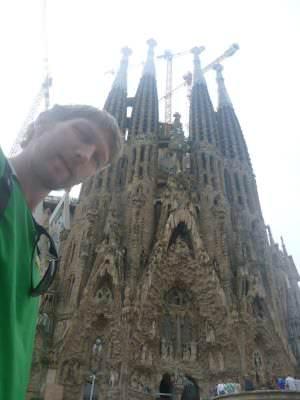 La Sagrada Familia selfie.