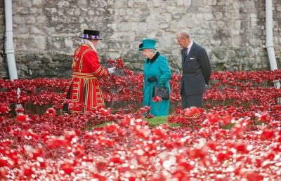 Yeoman Warder presentation to the Queen - photo copyright Tower of London.