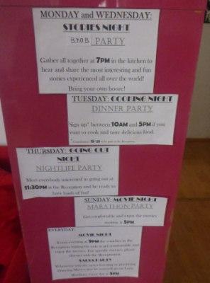 Cool nightly activites in the Little Bucharest Hostel