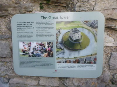 The Great Tower, Christchurch, Dorset, England.
