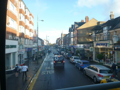 View from a Yellow Bus in Bournemouth.