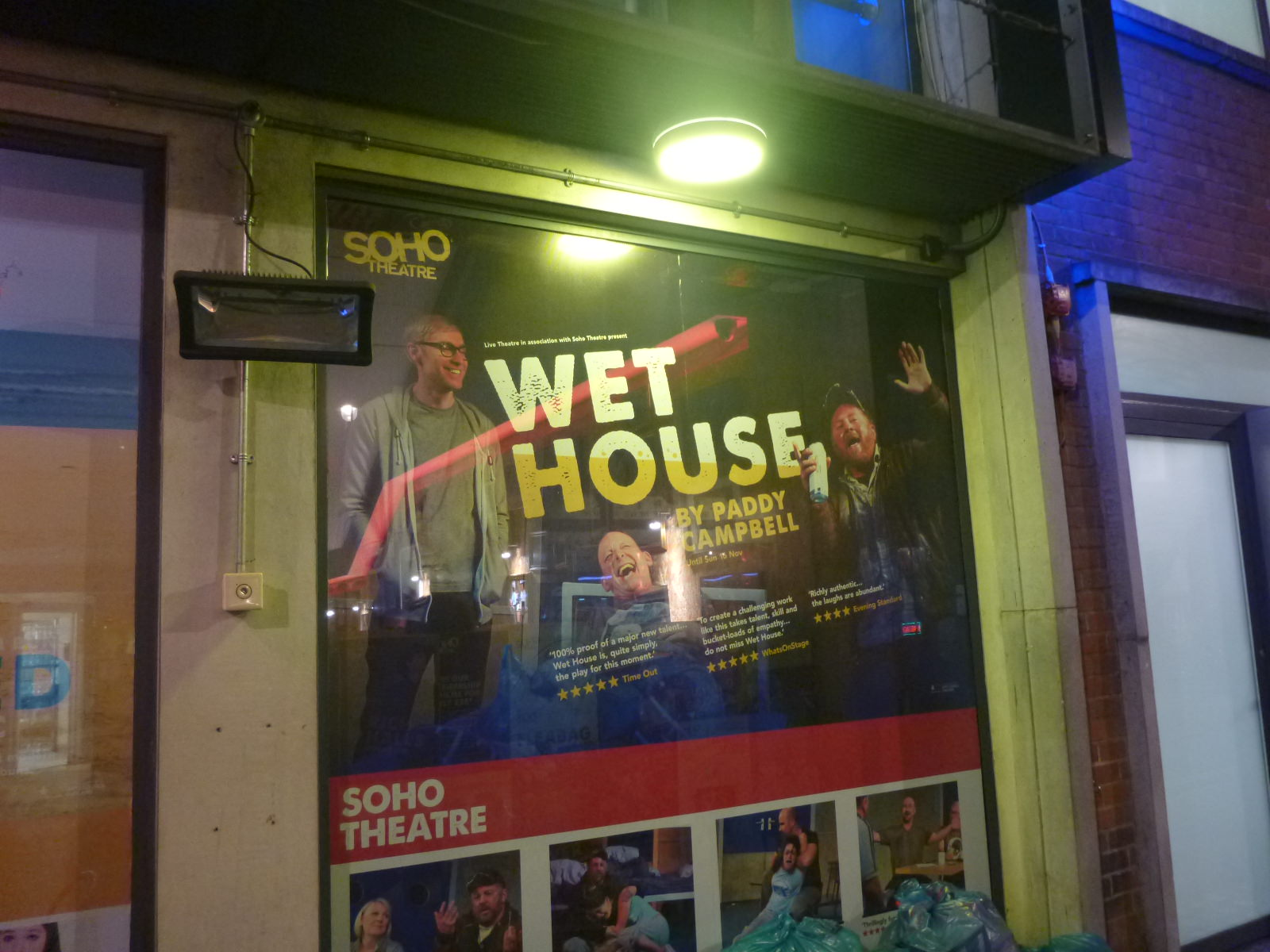High Quality Wet House Advert, Soho Theatre.