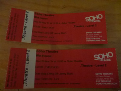 Tickets for Wet House in Soho.