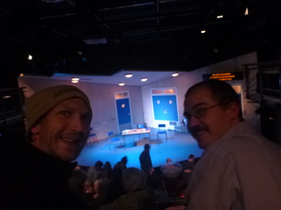 Neil and I enjoying Wet House in Soho Theatre, London.