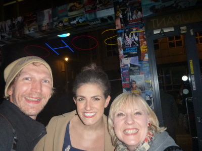 With 'Helen' and 'Kerry' from Wet House.