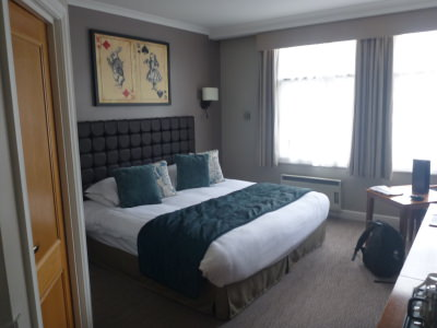 My luxury room at the Mad Hatter Hotel.