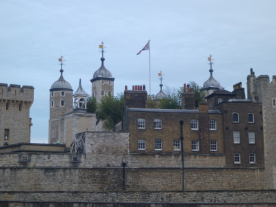Tower of London and the Union Flag of the UK.