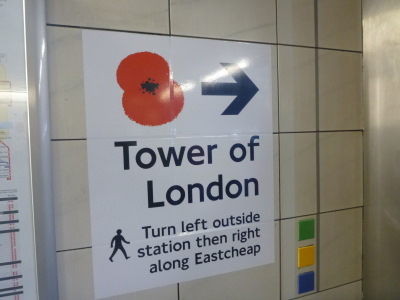 The poppies display is well sign posted.