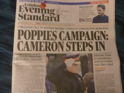 David Cameron steps in to try and extend the Poppies Display a bit longer.