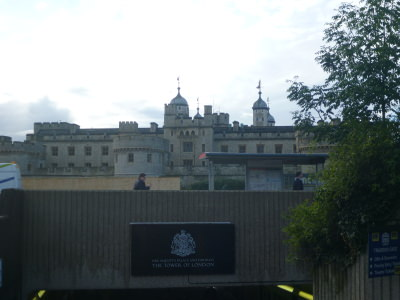 Touring the Tower of London, England.
