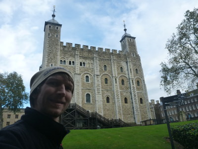 The White Tower outside.