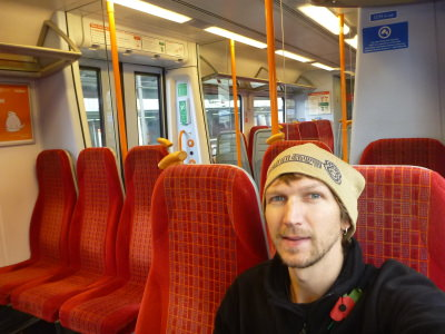 On the train to Windsor, Berkshire, England.