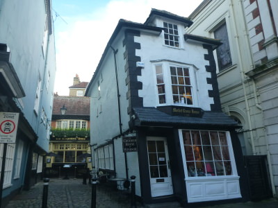 The Crooked House Pub in Windsor, Berkshire, England.