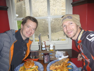 Lunch with Paul Gray in Windsor, England.