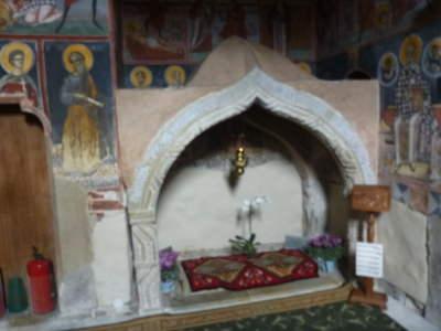 Inside Moldovita main church.