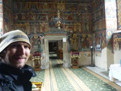 Inside the main church at Moldovita.