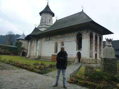 Backpacking in Romania: Visiting Moldovita Monastery.