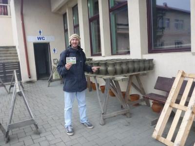 A quick trip to the Black Ceramics Factory in Marginea.