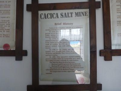 A brief history of Cacica Salt Mine.