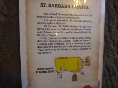 St Barbara's Chapel.